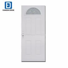 Insertions en verre de porte en acier d'arc lite, portes intérieures en verre dépoli, portes françaises en verre d'intérieur