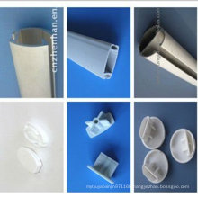 roller blind parts-bottom rail with plastic end cap,curtain track,curtain rods,curtain accessory