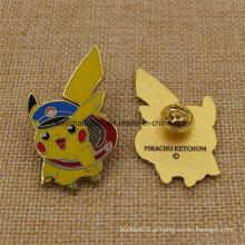 Crachá duro feito sob encomenda do Pin de Pikachu do metal do esmalte da promoção