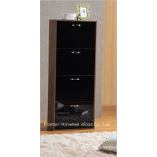 Modern 4 Drawers High Gloss Wooden Shoe Cabinet (XE41)