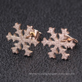 Charm Shining Sandblasted Winter Snow Shaped Pendent Jewelry Set  For Women