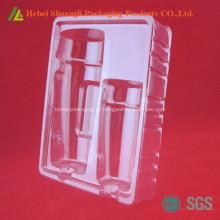 Recipiente cosmético plástico claro descartável do PVC