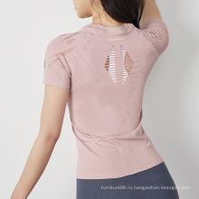 йога полая футболка для женщин