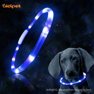 Glow In Dark Led Tube Safety Dog Collar