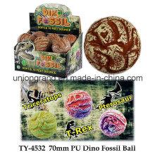 Bola del fósil de la PU Dino de 70m m