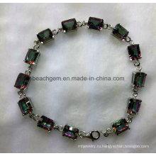 Мода браслет серебряный Мистик Топаз ювелирные изделия (BR0042)
