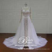 Manteaux manches longues jupe longue jupe dernières conceptions de robe de mariée