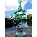 Vente en gros Spiral Recycle Glass Water Pipe Handblown Glass Water Pipe