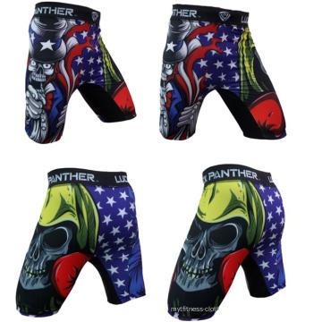 Shorts d'entraînement de shorts d'OEM MMA, short de Crossfit de boxe légère, shorts de MMA à haute impression