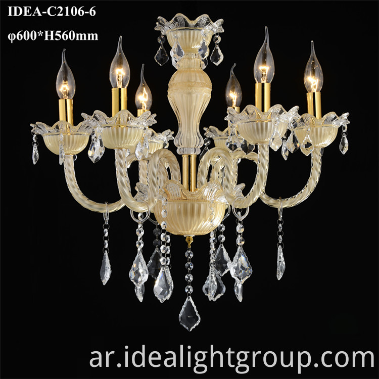 chandelier candle lighting