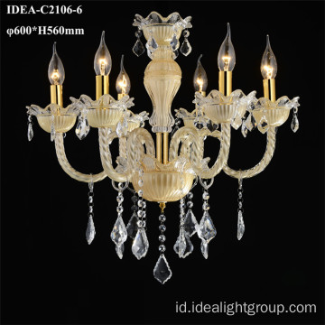 chandelier turkish lampu gantung kaca bahan chandelier