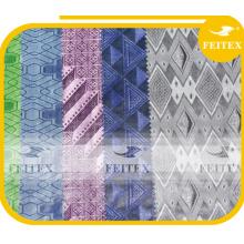 Tissu imprimé africain jacquard polyester textiles damassé brocade bazin riche 10 yards / bag