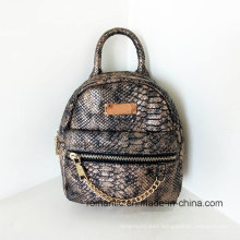 Wholesale Designer Ladies Snake Leather Mini Backpack (NMDK-042801)