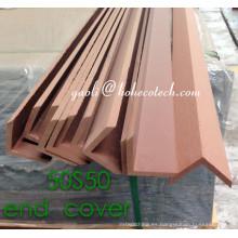 Tablero de la decoración de la cubierta del extremo de WPC para el decking compuesto plástico de madera