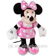 Mickey peluche de peluche y ratón minnie