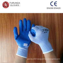 top quality 10 gauge 5 threads polycotton safety working gloves coated with foam latex on palm