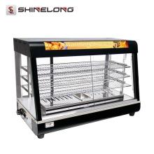 2017 venta caliente industrial 3/4 capa de vidrio calentador de alimentos vitrina