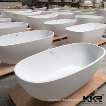 banheira moderna da mobília 1.5m do banheiro, banheira de superfície contínua da resina de pedra