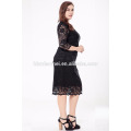 Fournisseur de vêtements chinois de haute qualité 6xl femmes plus robe de taille 2017 robe en dentelle noire
