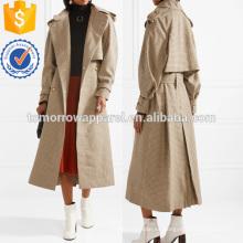 Moda Casual lana de lana Trecnh Chaqueta larga fabricación ropa de mujer al por mayor (TA3017C)