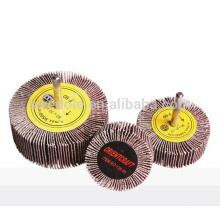 roda de lixa abrasiva para polimento e moagem