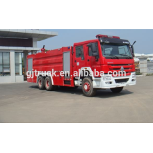 SINOTRUK HOWO 4 * 2 drive Foam Fire truck