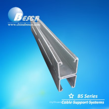 2.5 mm HDG Welded Back to Back Steel Channel for cable tray support(UL, CE, cUL, NEMA, ISO9001)