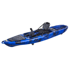 Factory wholesale Single sit on top Ocean plastic foot pedal fishing kayak with wheels for sale