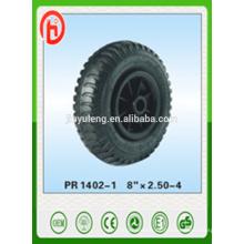 rueda de goma de 8 * 2.50-4 neumático de la rueda, patrón del estirón