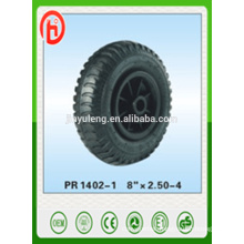 8''*2.50-4 rubber wheel /pneumatic wheel ,lug pattern