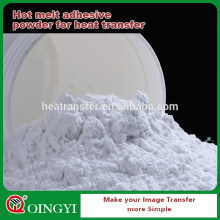 Белый PU слипчивый порошок для горячего клея melt с толщиной увеличить и водопоглощение