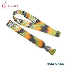 Disposable Sublimation Polyester Fabric Custom Cloth Bracelet