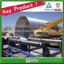 Machine de fabrication de tuyaux de ponceaux en acier inoxydable en spirale