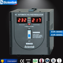Prix d'usine et régulateur de tension de haute qualité 5000va 3000w avec affichage compteur