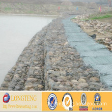Green PVC Hexagonal Gabion Box for Flood Control (LT-110)