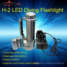 JEXREE cree Lampe à lampe torche portative lampe torche à lampe flash rechargeable solaire