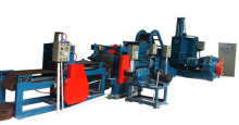 Double conical screw auto-feed sheeting machine