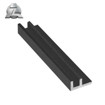 profilé supérieur de canal f en aluminium recouvert de poudre noire