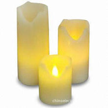 Cup Candle with LED Light, Available in Various Styles and Designs