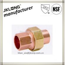 Conexão de tubulação de cobre bronze união