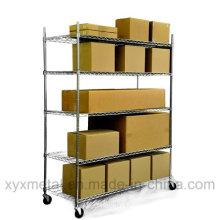Chrome Metal Heavy Duty Wire Shelving Cart