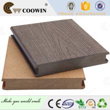 Panneaux de plancher anti-UV en plein air wpc prix de plancher / matériaux de plancher