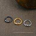 16G 316L Surgical Steel Crystal Hinged Segment Ring Clicker Piercing