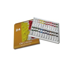 24 Colors 12ml Students' Oil Paint Set
