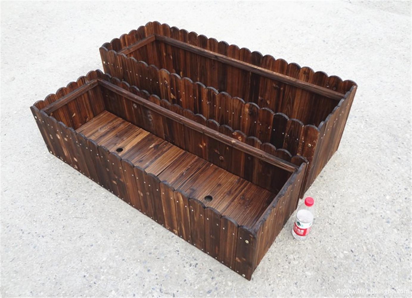 anticorrosion wooden flowerpot