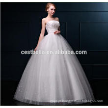 Vestido de baile vestido de noiva com tamanho e renda Vestido de casamento com tamanho grande