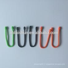 Factory Direct Sales High Quanlity Colorful Magic Nylon Soft Cable Bracelet Attaches de câble avec Silicon Gear Tie