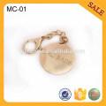 MC01 Custom zinc alloy metal hang tag for lady bag decoration