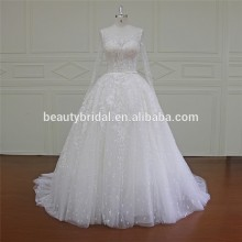 Xf16031 Gorgeous Embroidered Long Sleeve Wedding Dress