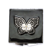 Black Butterfly Compact Mirrors